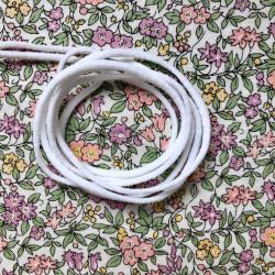 Soft round elastic, white