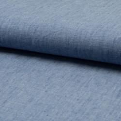 100% linen, jeans blue