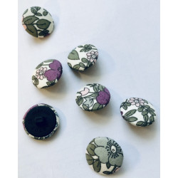 Fabric buttons floral,...