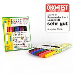 felt-tip pen 9+1, 9 colors...