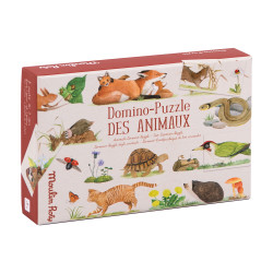 Domino with animal motifs,...