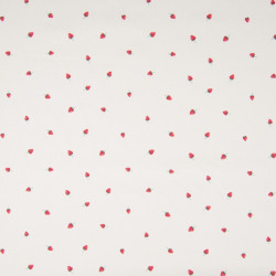Cotton with strawberry print