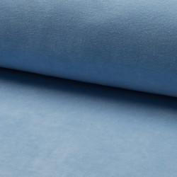 Velour fabric, light blue