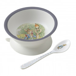 Bowl with suction pad and...