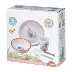 Meal set Peter Rabbit, rose