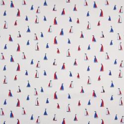 Cotton poplin, boats