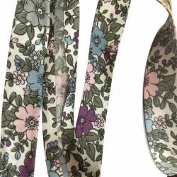 Bias binding floral, violet