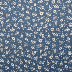 Cotton with flower print, blue