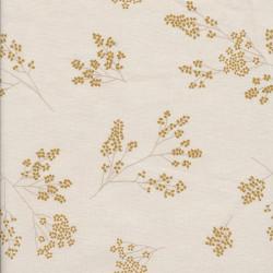 Cotton fabric Alberte, mustard