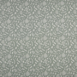 Cotton fabric with leafs,...