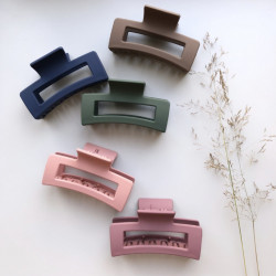 Large hair clips matte...