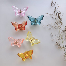 Small hair clips butterfly