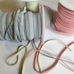 3 m farvet elastik  4 mm...