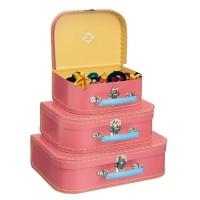 Sæt med 3 Kufferter, pink
