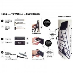 TOWERchair ophæng, sort/hvid
