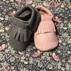 Baby mokkasiner i blød læder
