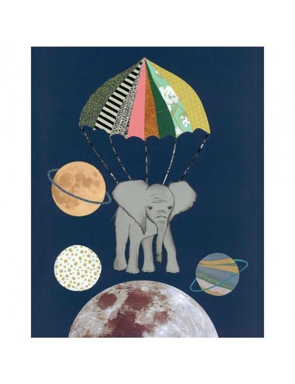 Tex og Jack plakat, Elephant in space, 40X50 cm
