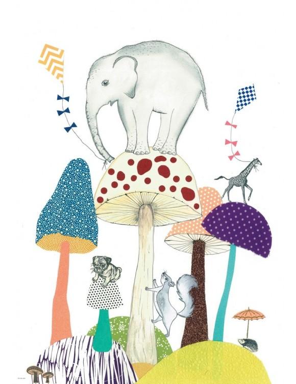 Tex og Jack plakat, World of Mushrooms, 50X70 cm