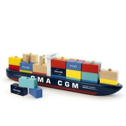 Stable Container ship,...