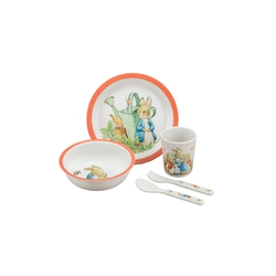 Meal set Peter Rabbit, coral